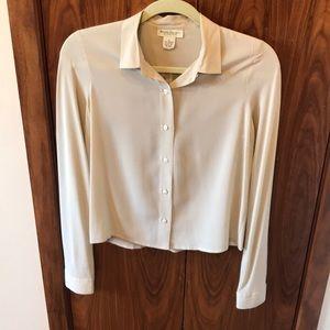 Silk cream BR blouse